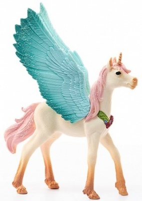 Schleich Bayala Decorated Unicorn Pegasus Foal 70575